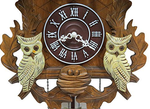 Squirrel and White Owls C00202 Cuckoo Clock