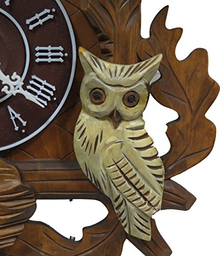 Classic Squirrel White Owls C00202 Cuckoo Clock