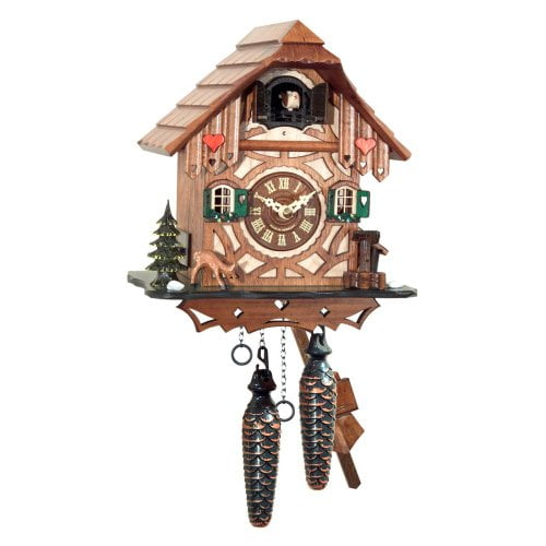 Black Forest Chalet with Deer Cuckoo Clock
