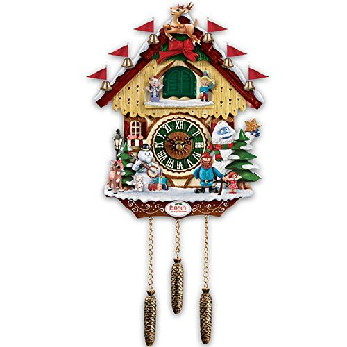 Rudolph The Red Nosed Reindeer Cuckoo Clock