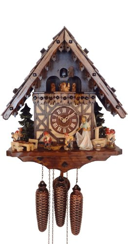 August Schwer Snow White Cuckoo Clock