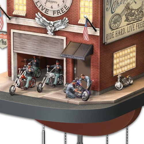 Freedom Choppers Cuckoo Clock Motorcycle Garage