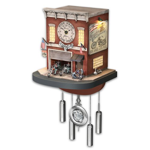 Freedom Choppers Cuckoo Clock - Motorcycle Garage Clock