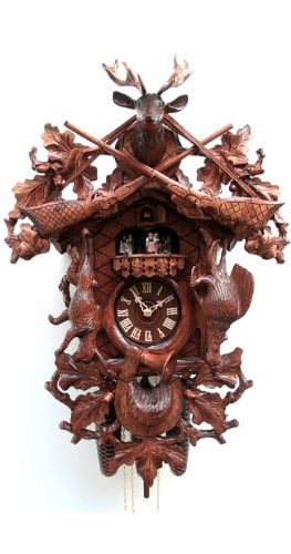 Cuckoo Clocks Hunting Clock Hanging Animals Wall Of Clocks