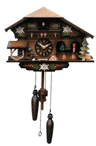 Engstler Alpine Dancers Quartz Cuckoo Clock