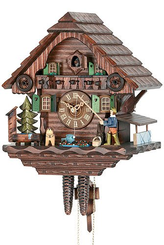 Hekas 1673 EX Cuckoo Clock with fishing man