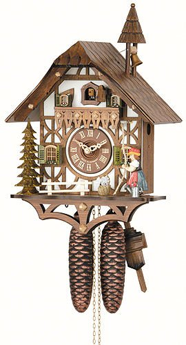 German Cuckoo Clock 8 Day Movement Chalet Style 15 00 Inch
