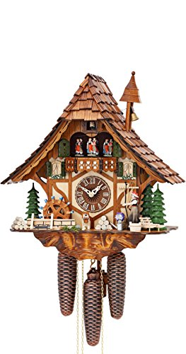 German Cuckoo Clock 8 Day Movement Chalet Style 16 00 Inch