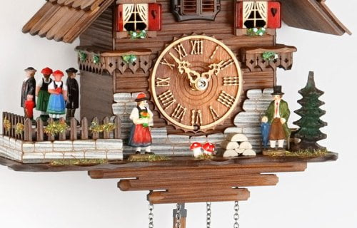 german cuckoo clock chaletstyle inch authentic black forest cuckoo clock by trenkle uhren