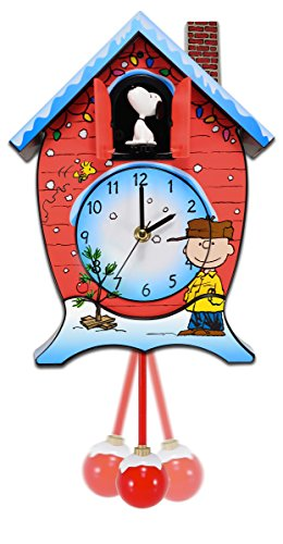 Charlie Brown Snoopy Peanuts Christmas Cuckoo Clock