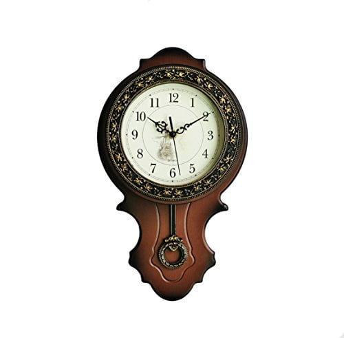 New world voyage simulated wood pendulum wall clock quartz abs glass front cover plastic main - Cuckoo pendulum wall clock ...