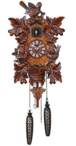 Trenkle TU 362 Q Cuckoo Clock with Leaves and Birds