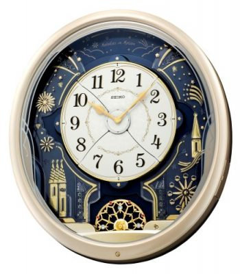 Seiko QXM239SRH Melodies In Motion Wall Clock