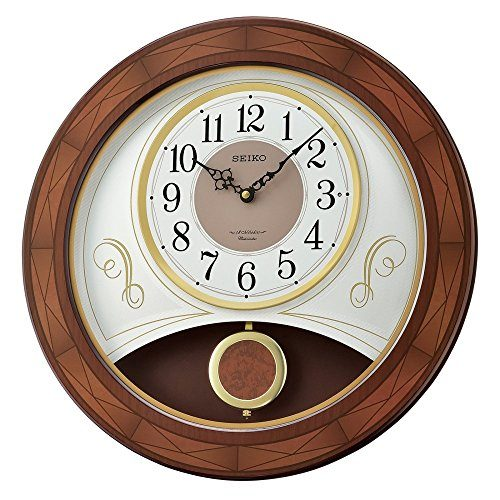 Seiko QXM367BLH Wood Case Melody Clock