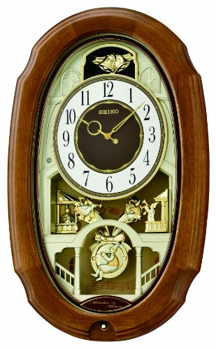 Seiko QXM479BRH Town Square Motion Clock