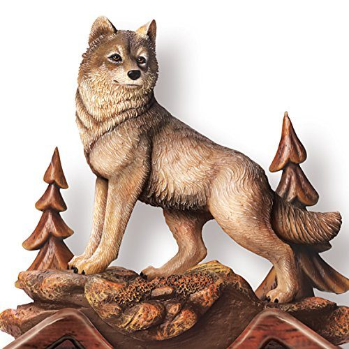 Terry Doughty The Forest Wolf Cuckoo Clock