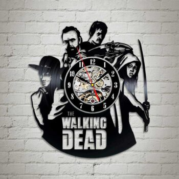The Walking Dead Vinyl Clock Wall Art