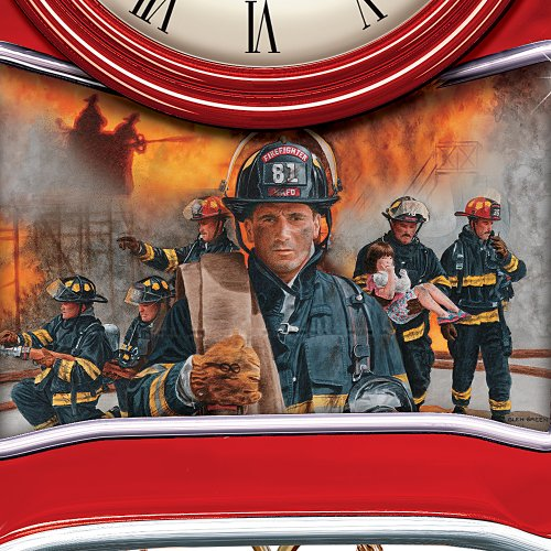Around The Clock Heroes Firefighter Cuckoo Clock Wall Of