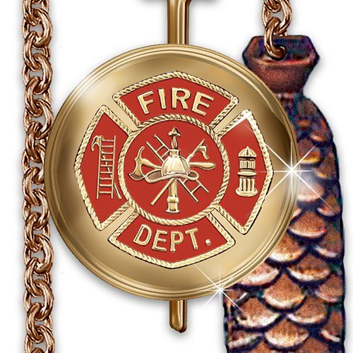 Firefighter Cuckoo Clock by The Bradford Exchange