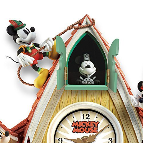 The Disney Mickey Mouse Through The Years Cuckoo Clock With Lights Music And Motion