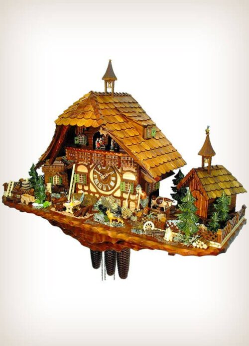 Large Farmhouse Cuckoo Clock by August Schwer