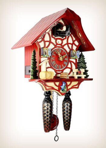 Magic Red HerrZeit Cuckoo Clock