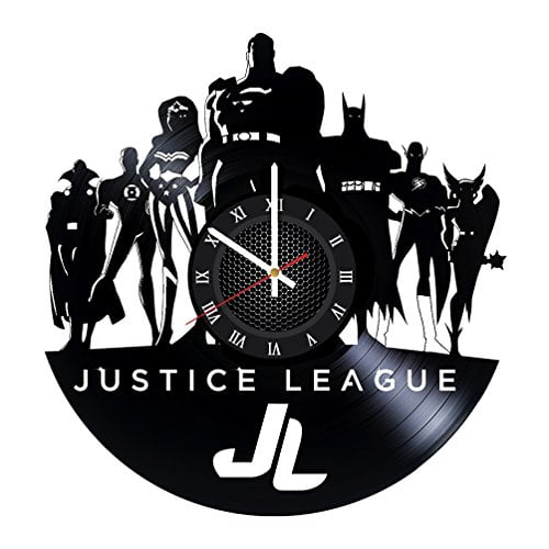 a91458e51 Superhero Bedroom Vinyl Record JUSTICE LEAGUE Wall Clock - Get unique room  decor - Gift ideas for men, ...