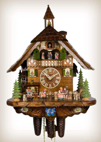 Adolf Herr Happy Family Cuckoo Clock
