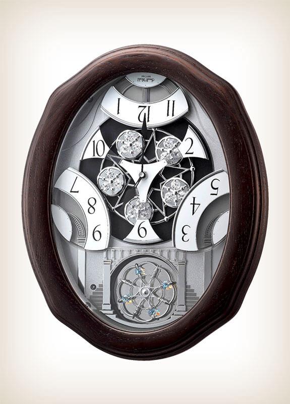 Glory Espresso Rhythm Clock 4mh895wu06 Wall Of Clocks