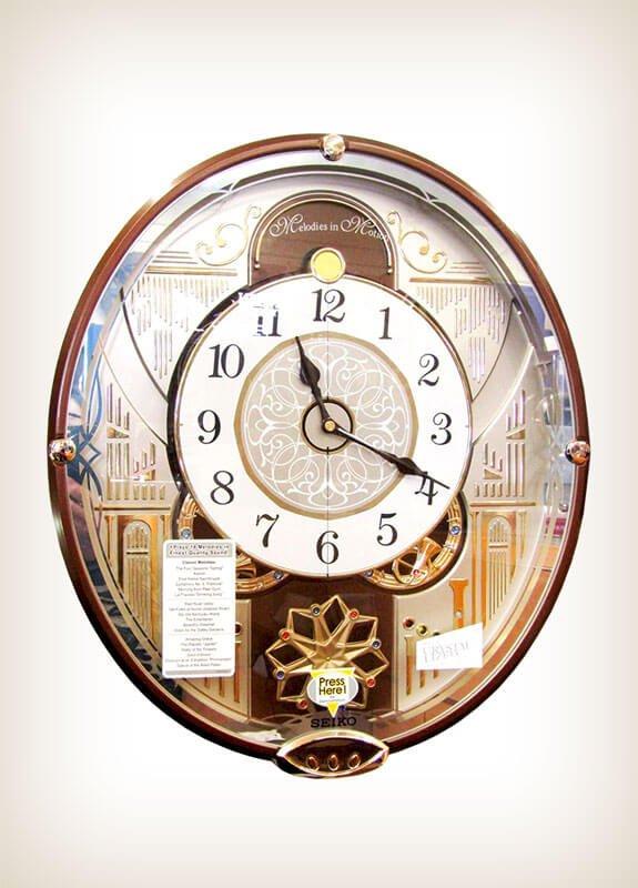 Seiko QXM277BRH Melodies in Motion Clock