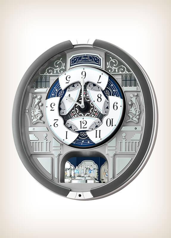 Seiko Qxm366srh Grey Style Musical Clock Wall Of Clocks