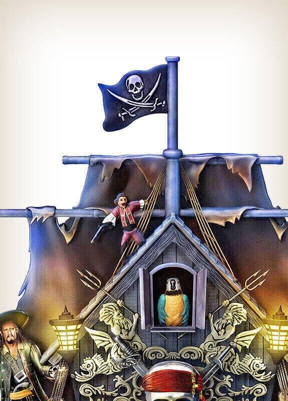 Disney Pirates Of The Caribbean Cuckoo Clock Wall Of Clocks