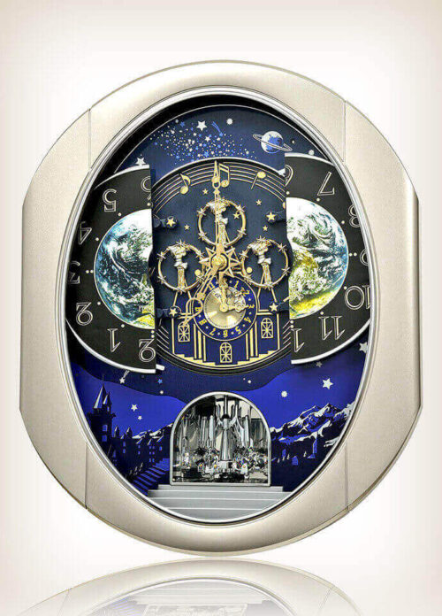 Peaceful Cosmos II Rhythm Clock 4MH408WU19