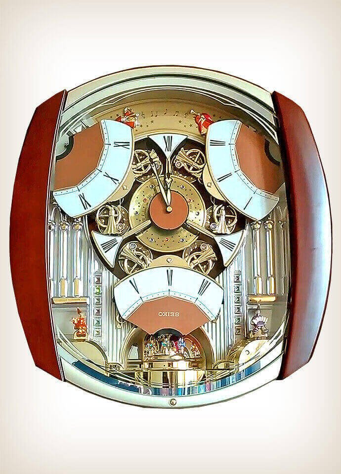 Seiko Qxm250b Multicolor Melodies In Motion Wall Of Clocks