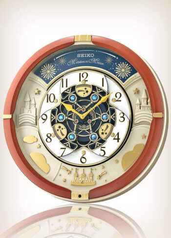 Seiko QXM378B Brown Case Melodies in Motion Clock