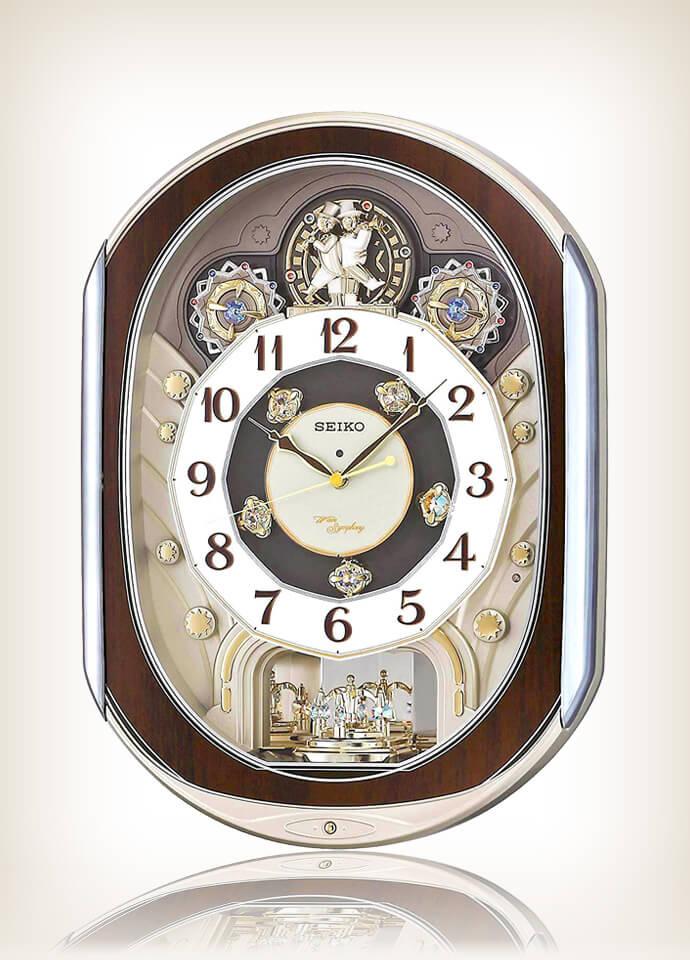 Seiko Re578b Radio Analog Brown Motion Clock Wall Of Clocks