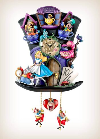 Mad Hatter Alice In Wonderland Cuckoo Clock