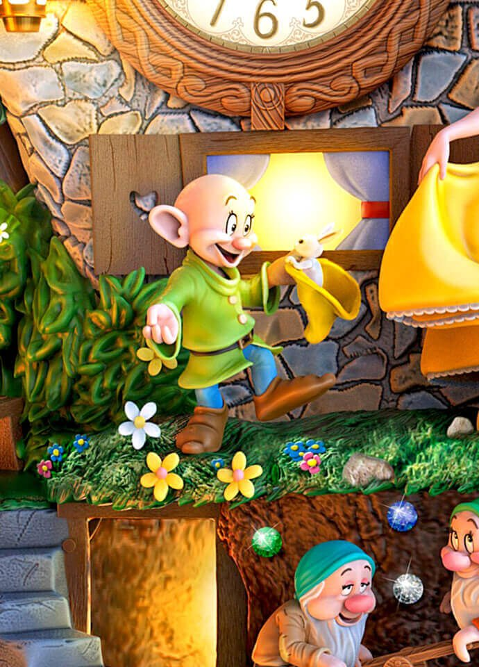 Disney Snow White Hidden Treasure Cuckoo Clock Wall Of