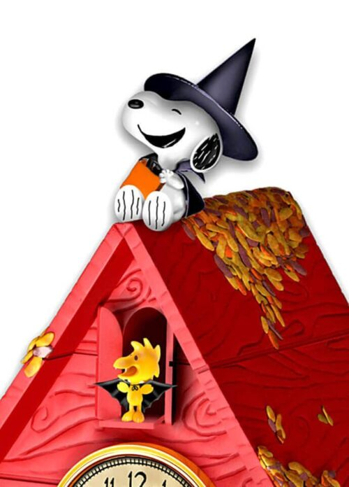 Peanuts Halloween Party Cuckoo Clock with Lights Music Motion