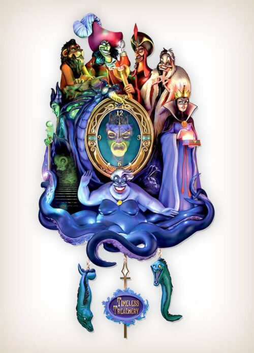 Disney Timeless Treachery Cuckoo Clock