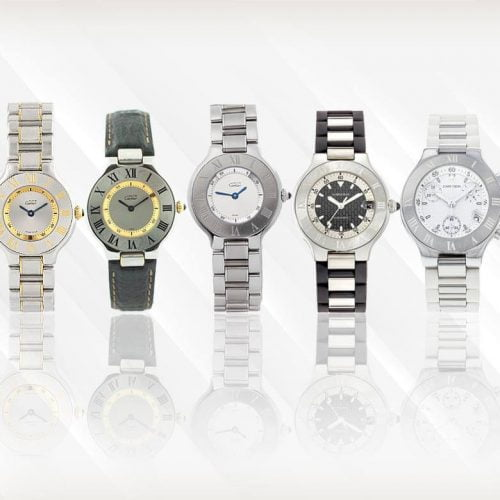Luxury Cartier Must 21 Ladies Watch Collection