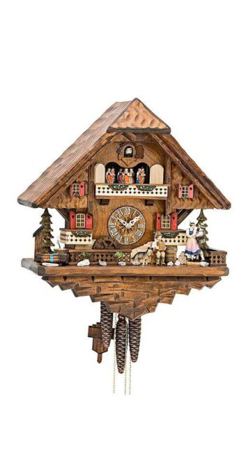Hekas 3625 EX Cuckoo Clock with Dancers and Couple