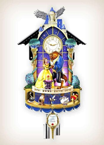 Beauty and the Beast Happily Ever After Disney clock