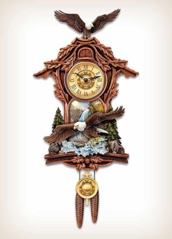 Moments Of Majesty Bald Eagle Cuckoo Clock