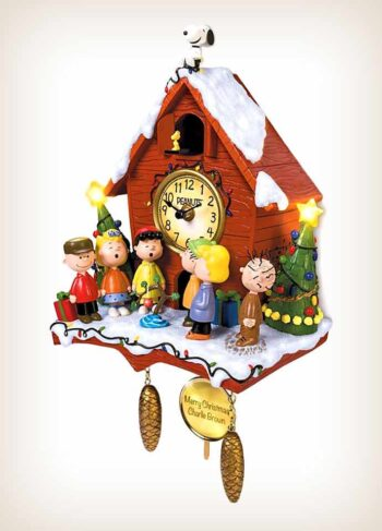 Charlie Brown Christmas Cuckoo Clock - Side View
