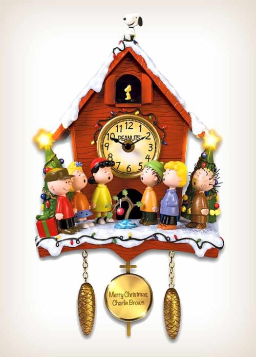 Charlie Brown Christmas Cuckoo Clock - Front View