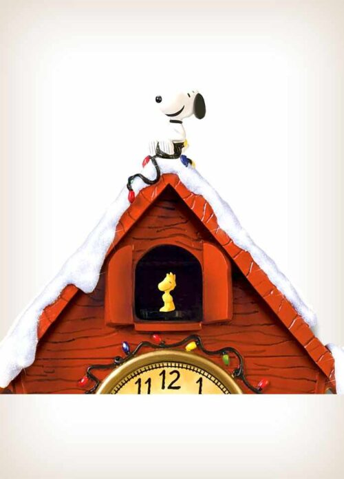 Charlie Brown Clock - the Snoopy lying on the roof