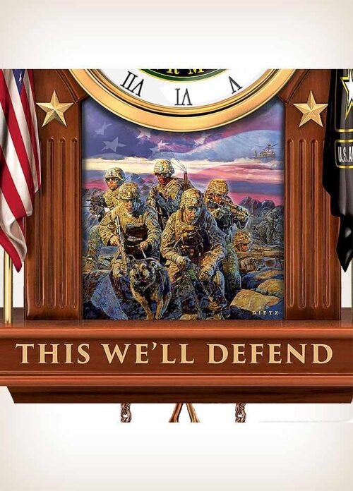 This We'll Defend Army Cuckoo Clock